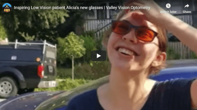 Inspiring Low Vision patient Alicia s new glasses Valley Vision Optometry YouTube