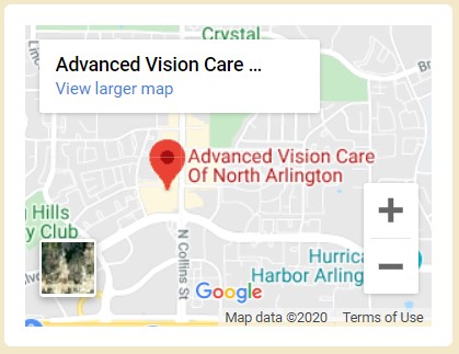Advanced Vision Care Of North Arlington Map