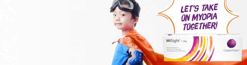 Myopia Child with cape