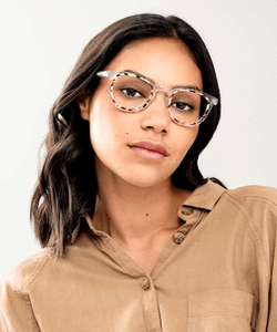 Model wearing WooW sunglasses
