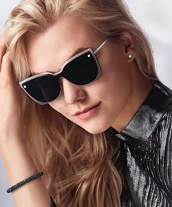 Model wearing Swarovski sunglasses