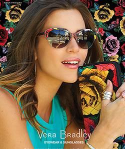 Model wearing Vera Bradley sunglasses