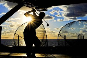 sports golf sunset silhouette