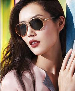 Model wearing CK sunglasses