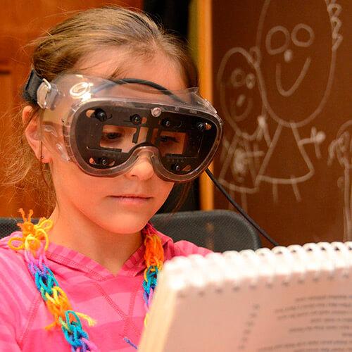 Child Visagraph Test at Optometrist
