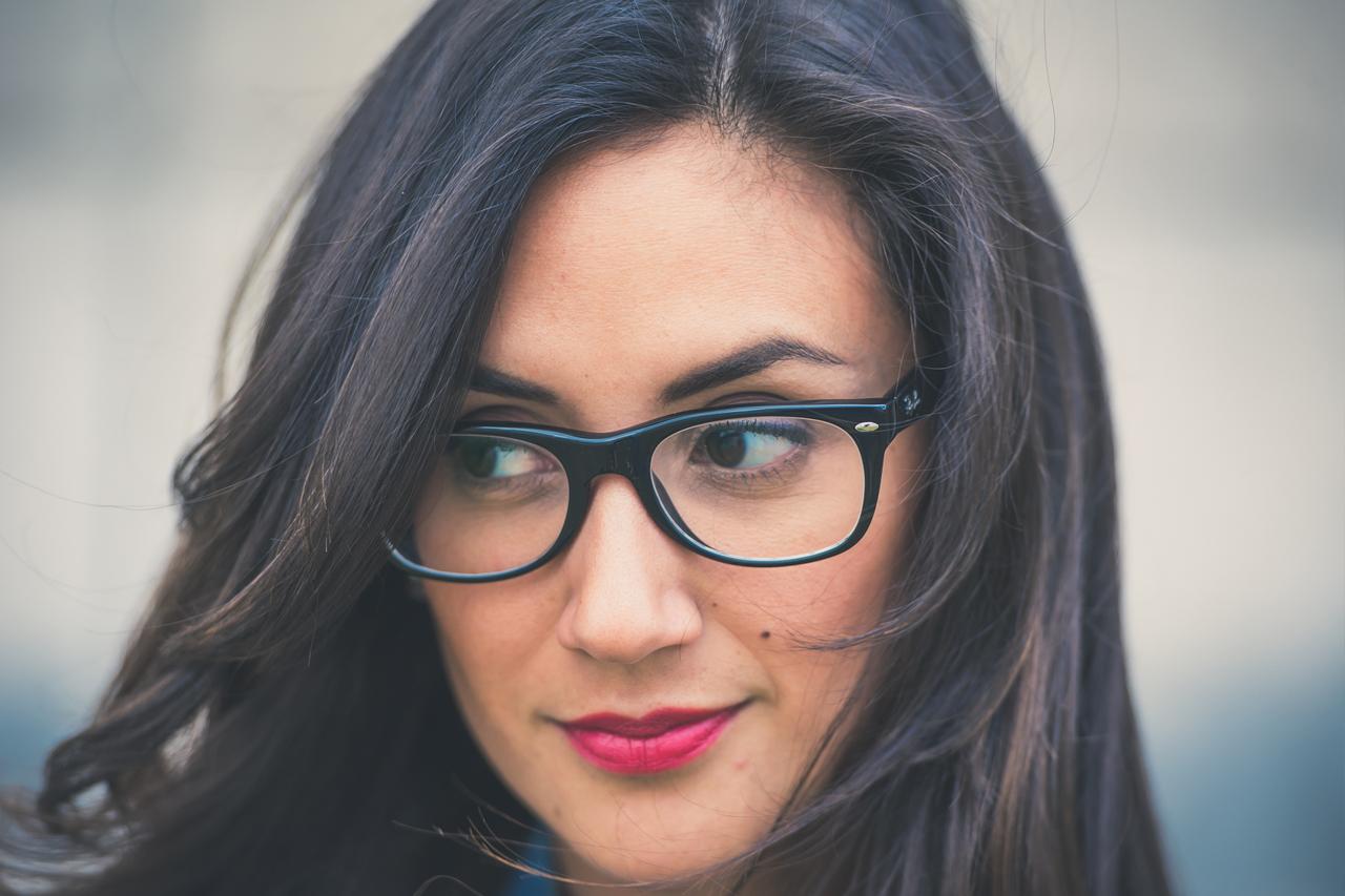 Girl Glasses Dark Hair 1280x853