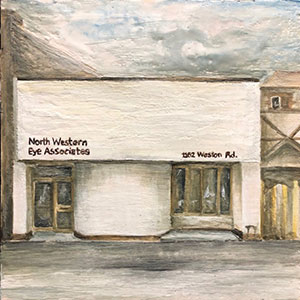 Painting of the exterior of Nortwestern Eye Associates