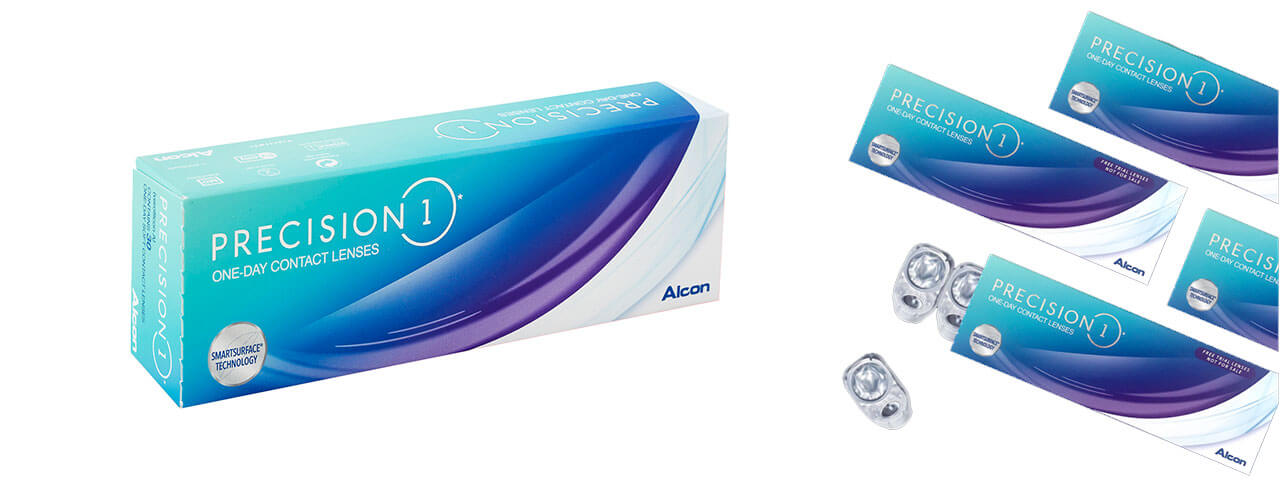 precision 1 day contact lense banner