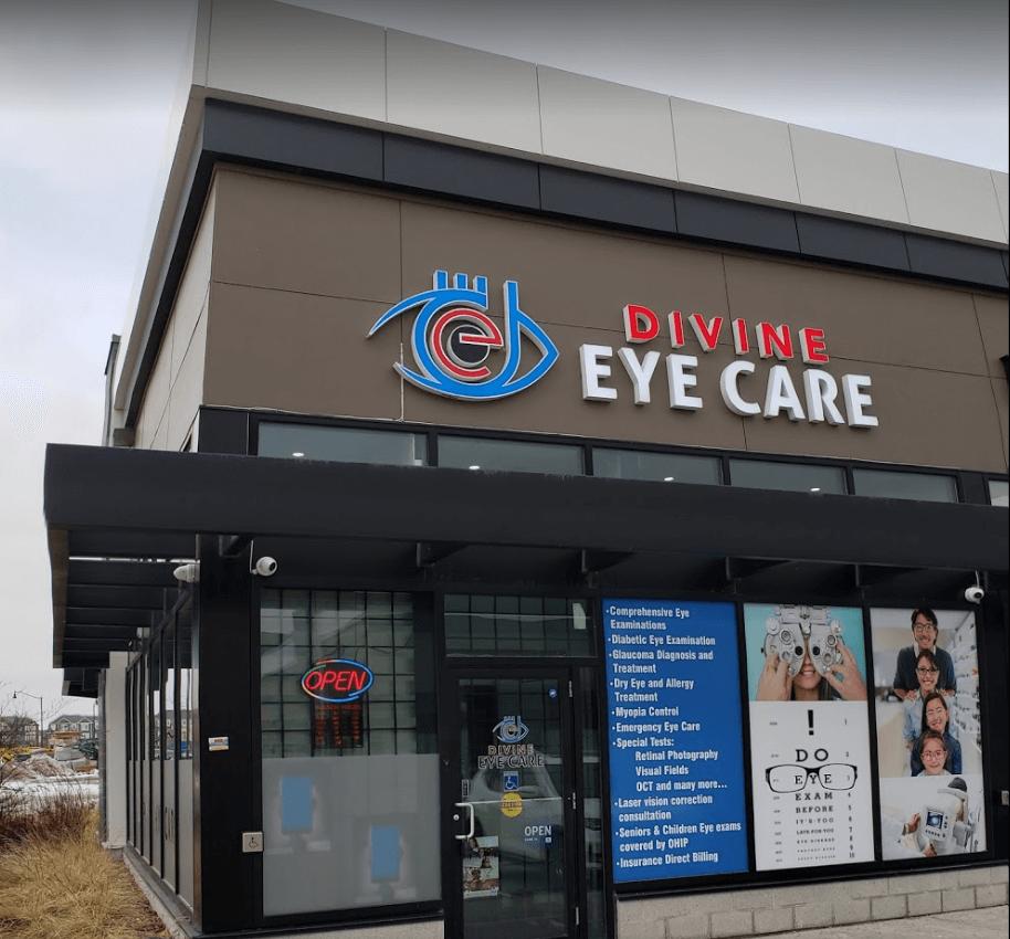 Outside Divine Eye Care