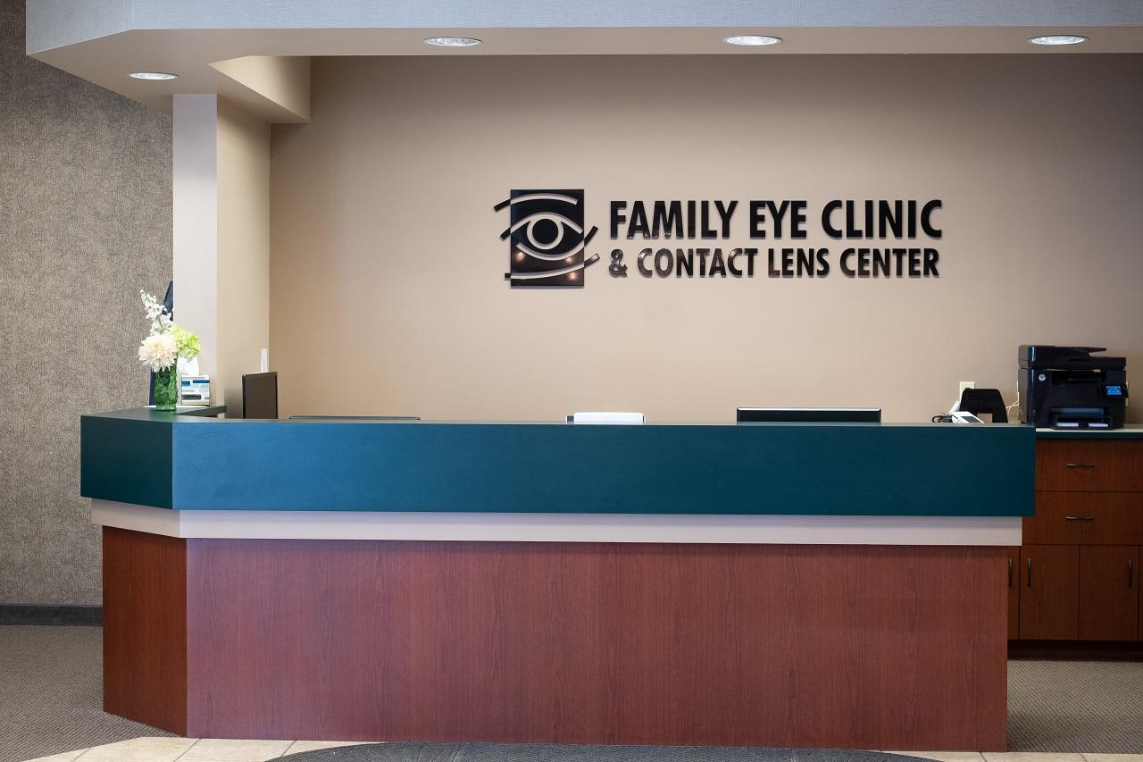 Family Eye Clinics Eden Prairie front desk