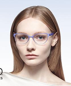 Model wearing OVVO glasses
