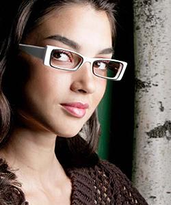 Model wearing Joseph Abboud glasses