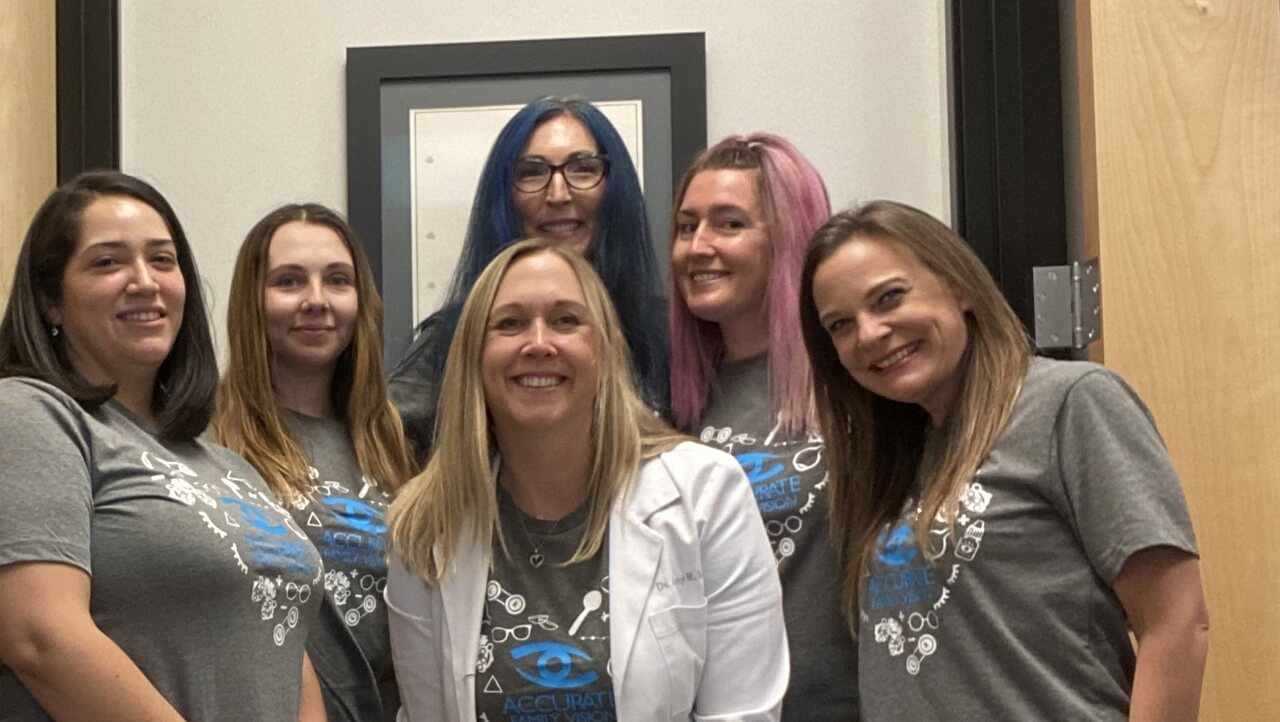 our Gilbert eye care staff and our optometrist