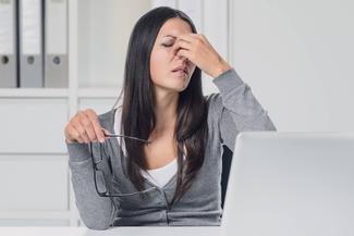 woman suffering eye strain 1