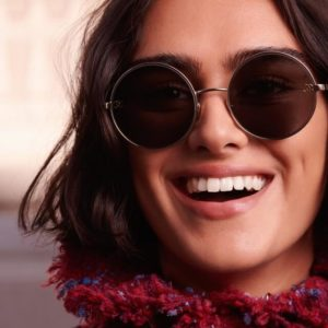 woman wearing chanel sunglasses 300x300