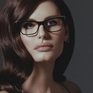 woman wearing dita eyeglasses 300x300