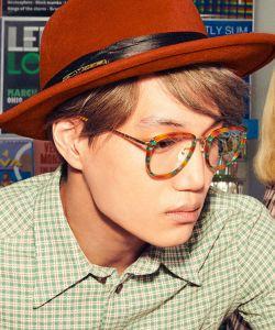 Man wearing a red hat at Gucci Eyewear