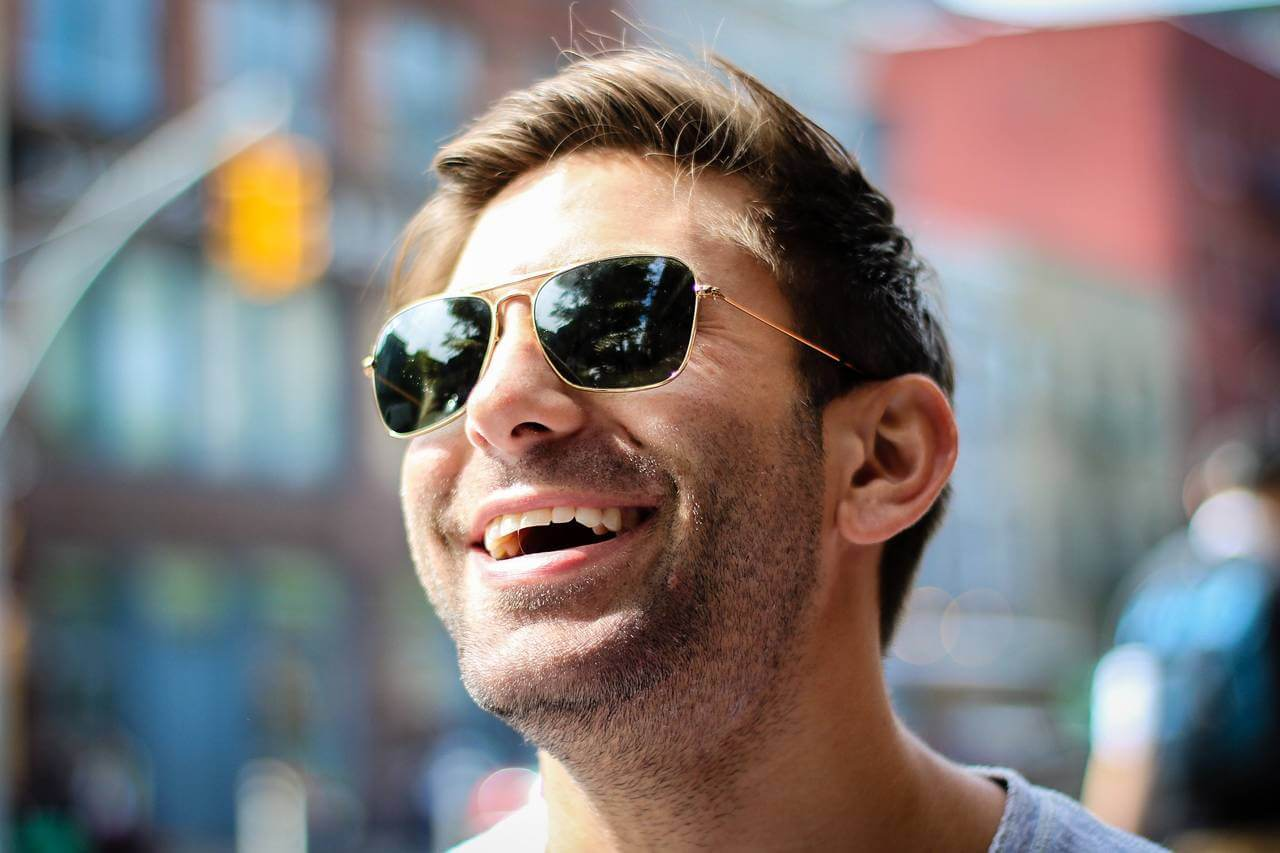 Man Happy Sunglasses 180×853