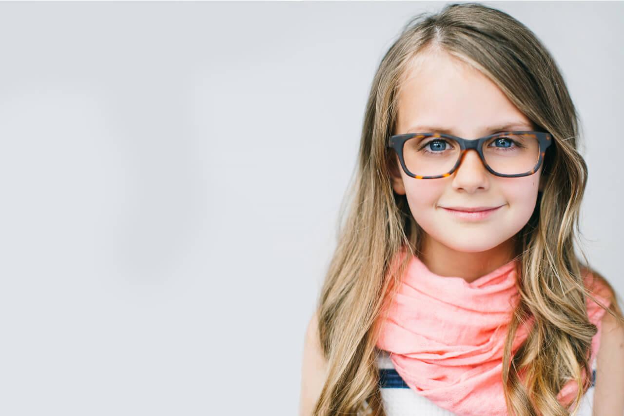 Girl Smiling glasses