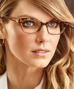 Model wearing Anne Klein eyeglasses