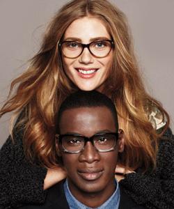Model wearing Cole Haan eyeglasses