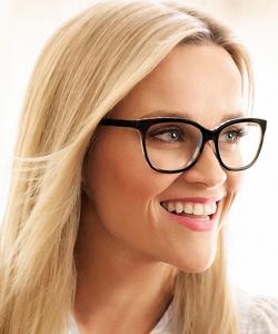 Model wearing Draper James eyeglasses
