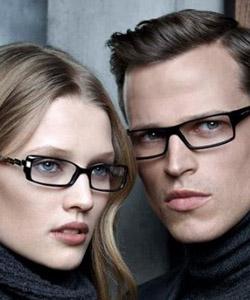 Model wearing Hugo Boss glasses