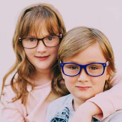 two kids with glasses