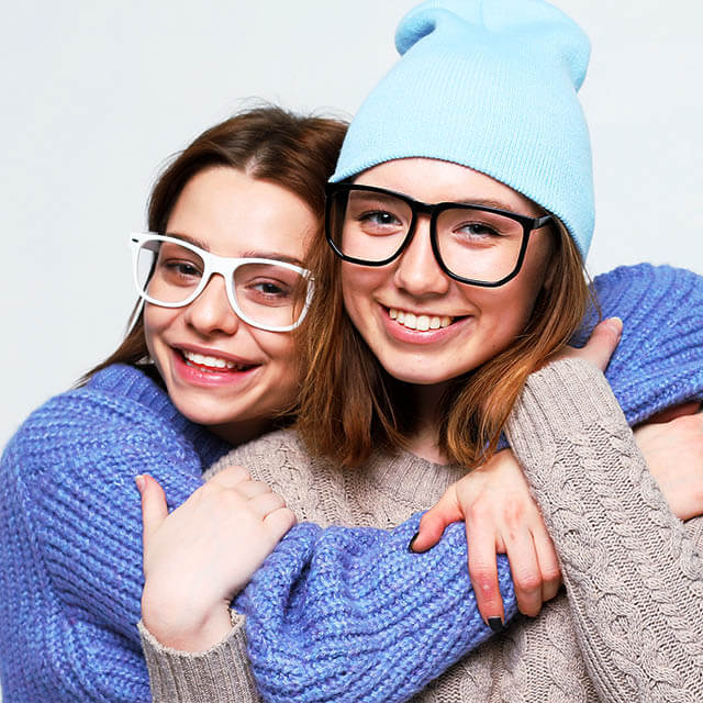 lifestyle, people and friendship concept: Two young female frien