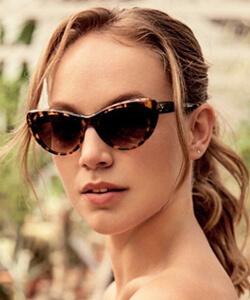 Model wearing Silhouette sunglasses