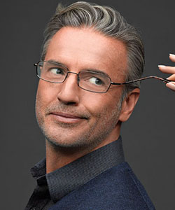 Model wearing Flexon eyeglasses