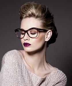 Model wearing Juicy Couture eyeglasses
