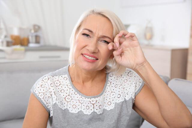 Dry Eye Old Woman | Eye Doctor in Burlington