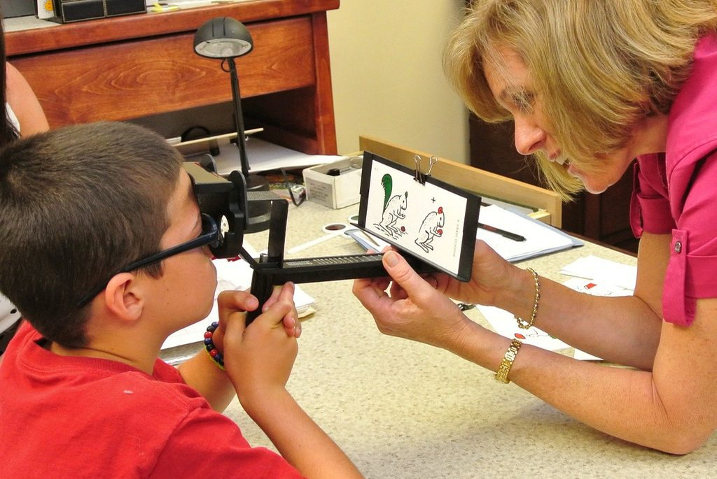 young boy vision therapy