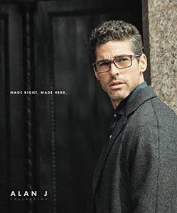 Model wearing Alan J eyeglasses