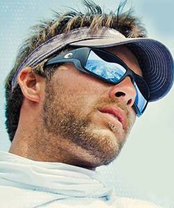 Model wearing Costa sunglasses