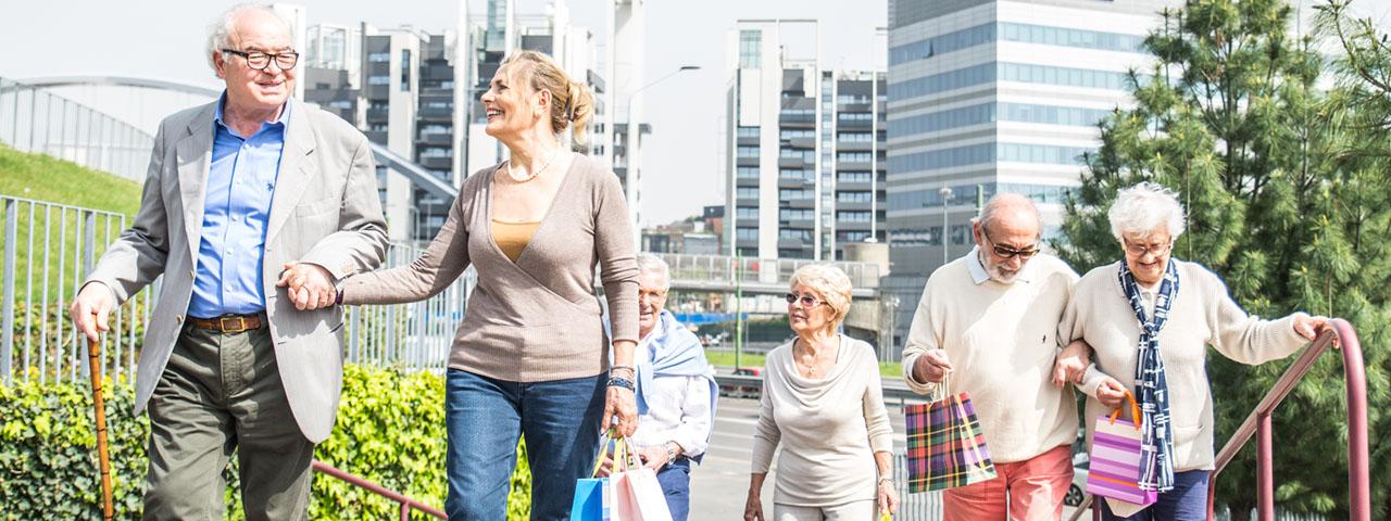 Group of senior walking together, Eye Care in Paramus, NJ