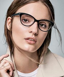 Model wearing Nine West eyeglasses