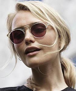 Model wearing Dita sunglasses