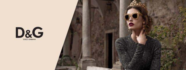 Woman Wearing D&G Designer Eyeglass Frames