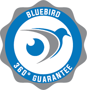 Bluebird 360 degree Gurantee badge