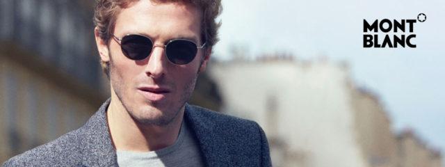Man Wearing Mont Blanc Designer Sunglasses