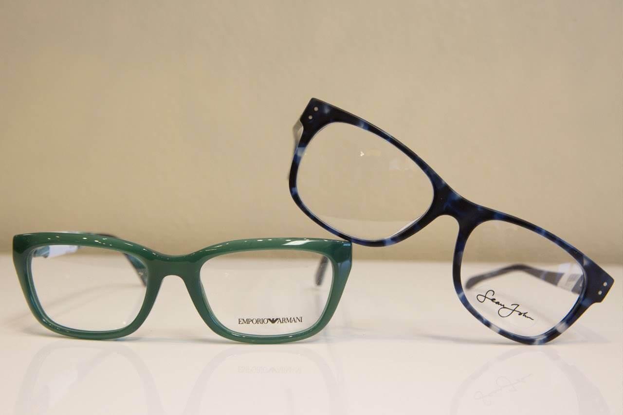 glasses frames green blue 1280×853
