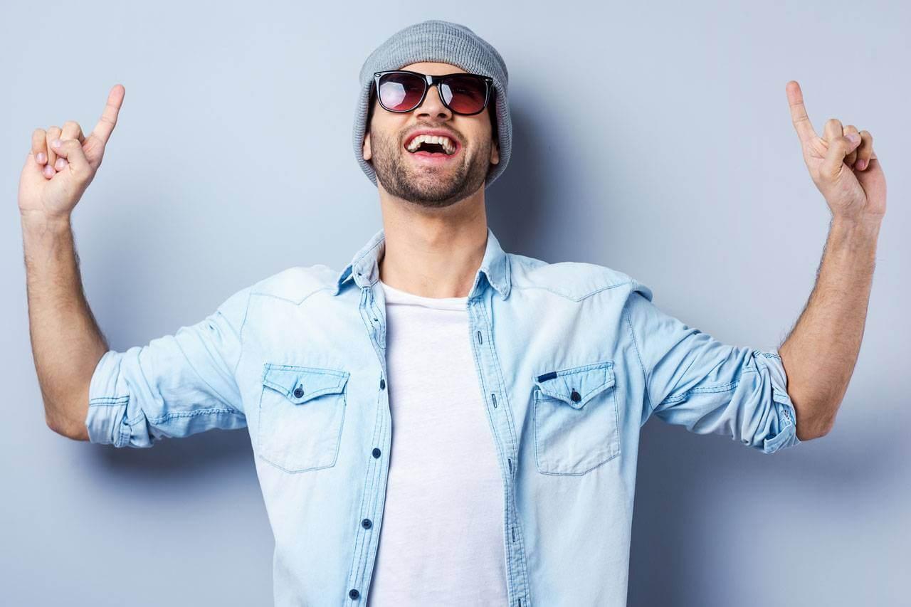 sunglasses dude hipster portrait mauve