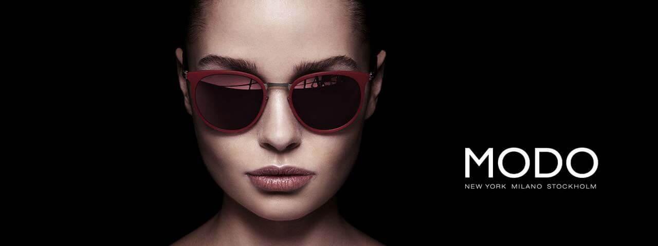 Model wearing Modo sunglasses