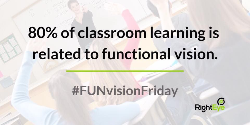 80 percent learning functional vision