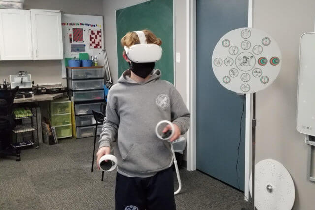 vr vision therapy patient
