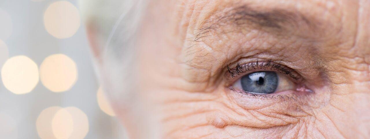senior eye upclose