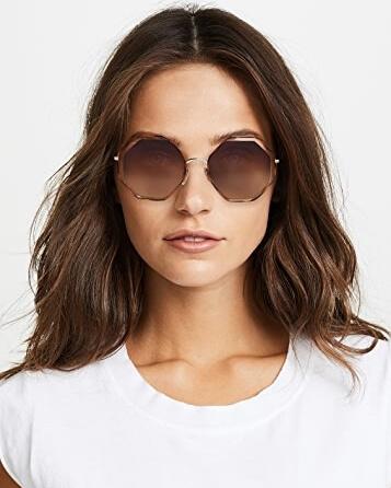 Model wearing Chloe sunglasses