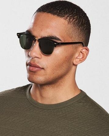 Model wearing RAY BAN eyeglasses